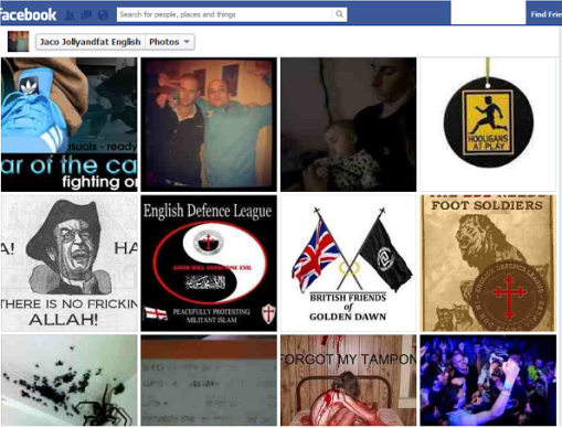 Middle Picture Next to an EDL Poster is 'British Friends Of Golden Dawn'  (underneath that is a good example of how some of these pricks view women).