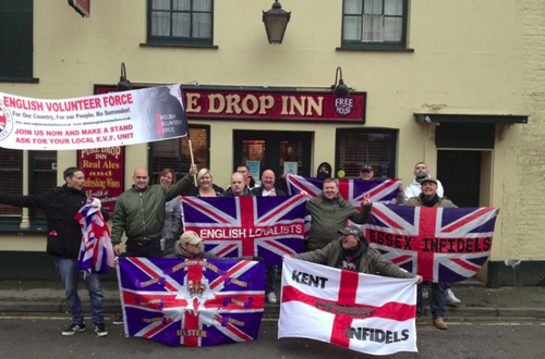 This lot call themselves South East Alliance - A group headed up By EDL organiser Mickey Bayliss