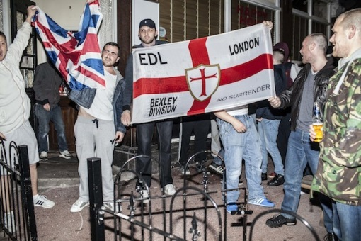 London EDL, Bexley Div - Celebrating the fact they think there's a chance for a bit of racism.