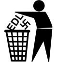 keep britain tidy - EDL swastika1