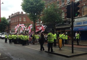 More cops than fascists in Cricklewood!