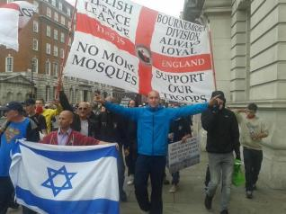 Some EDL march down Whitehall