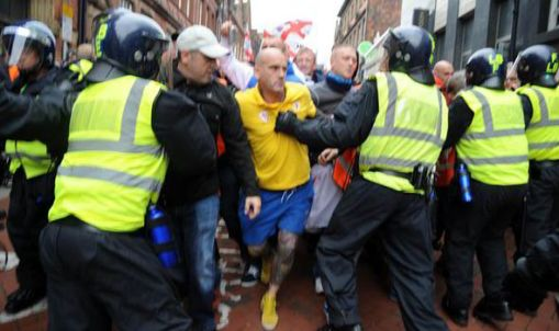 The EDL's drunken mess of a demo in Rotherham last month.