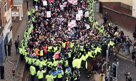 A previous EDL demonstration in Luton.