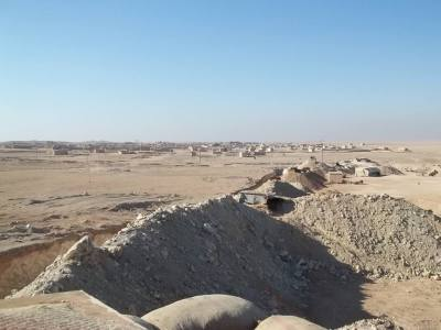 A frontline defensive position near Abdulaziz