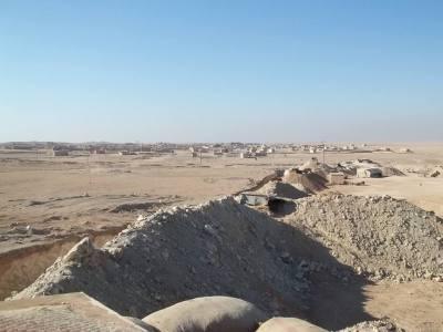 A frontline defensive position near Abdulaziz